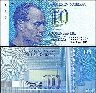 Finland 10 Markka, 1986, P-113, UNC
