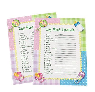 24 Baby Shower Word Scramble Game
