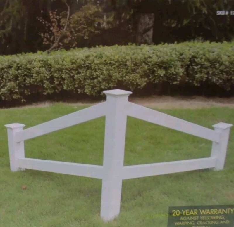 Amish Style Two-Rail Corner Fence  Brand New - Factory Fresh - Never Used