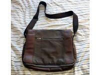 JASPER CONRAN Designer brown leather messenger bag