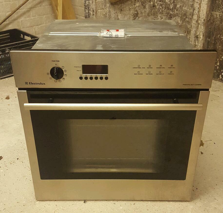Electrolux Pyrolytic Self Cleaning Stainless Steel Built In Oven