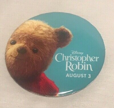 DISNEY Christopher Robin Movie Promo Pin/Button/Badge | Winnie the Pooh