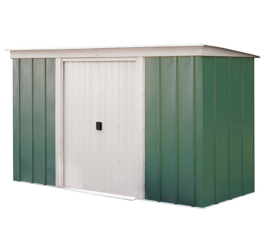 SOLD *** Arrow Pent Metal Garden Shed   10 X 4ft ***
