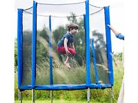 Plum 6Ft Trampoline & Enclosure, Blue with assembly instructions