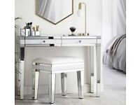 NEW mirrored 2 drawer dresser and stool - SWFurnishings