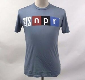 Chaser Men's T-Shirt This is NPR Light Blue Size XL NEW National Public Radio