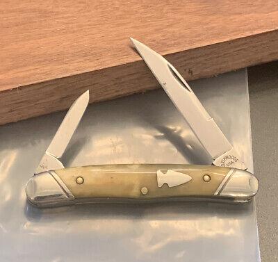 NORTHWOODS KNIFE NORFOLK WHITTLER CALICO BONE GEC GREAT EASTERN CUTLERY USER