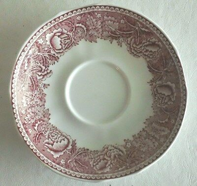 Arabia China, Made in Finland, Saucer featuring Pink Floral on White Background