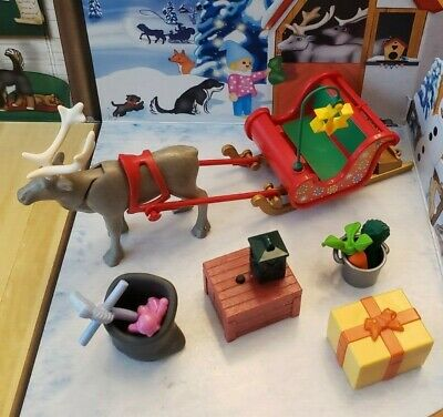 Playmobil 2019 Advent Calendar 9264 Santa's Workshop Reindeer Sleigh Presents !!