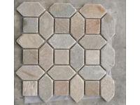Mosaic Naxos Tribal sheet floor tile x 8