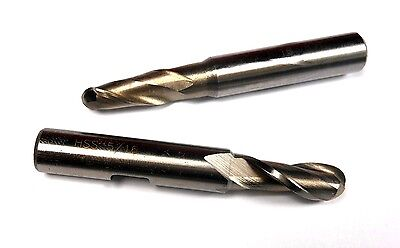 Single Ball End Mills 516 Hss 2fl 38 X 34 X 2-12 2 Pcs