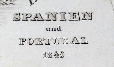 Alt- u. Grenzkol. Stahlstichkarte: Spanien und Portugal, Hauptmann Radefeld 1849