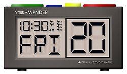 - NEW -  MedCenter Recording Your Minder Talking Personal Record Alarm Clock