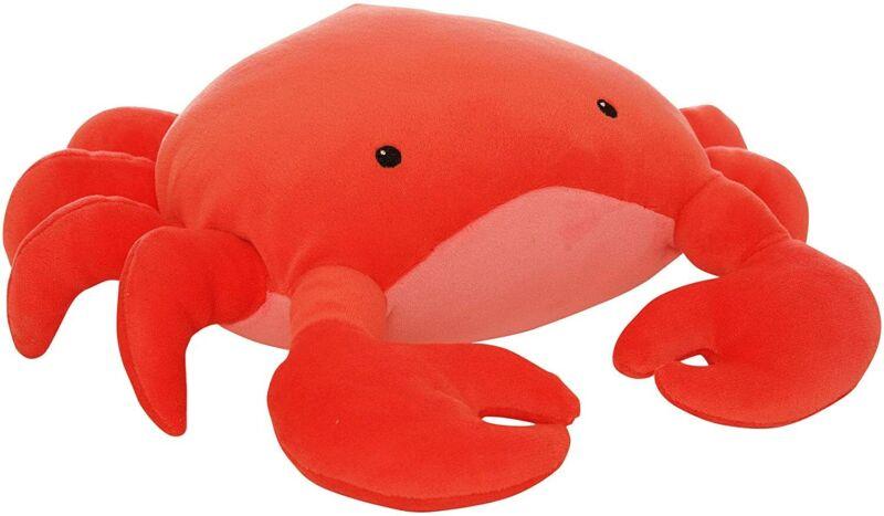 "Manhattan Toy Crabby Abby Velveteen Sea Life Toy Shark Stuffed Animal, 12"""