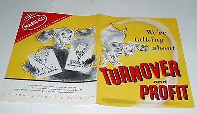1950's Nabisco Pal Dog Food Promo brochure w/ Rin Tin Tin german shepherd
