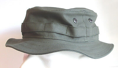 RECCE Hat  Boonie     olive drab Moleskin fabric   - Made in Germany - Boonie Hat Olive