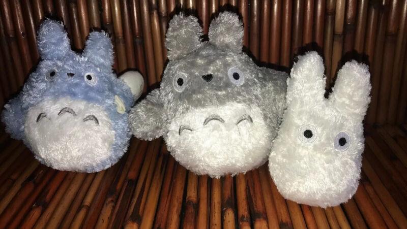 Official Studio Classic My Neighbor Totoro Nibariki Trio Plush Toy Lot EUC