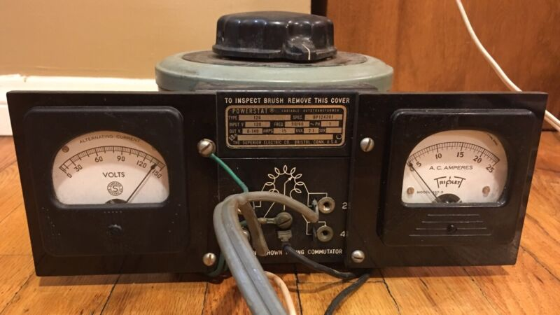 THE SUPERIOR ELECTRIC CO POWERSTAT TYPE 126 BP124201 VARIABLE TRANSFORMER