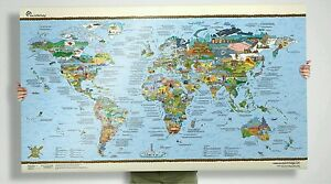 Surf Trip World Map Large Wave Travel Guide poster art gift picture spots