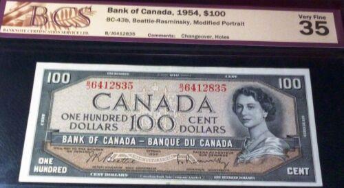 $100 CANADA, BANK OF CANADA 1954