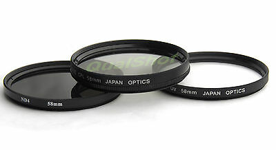 Uv Nd4 Cpl Circular Filter Kit For Canon Eos Rebel Xti Camera + 18-55mm Lens