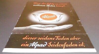 reklame blatt alt alpad seiden farb band padberg wuppertal  büro werbung 1950