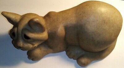 "Large ""Chiquita"" Cat Quarry Critters by Second Nature Design SEALED Original"