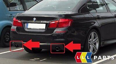 BMW Neu Original 5 6 F10 F11 F07 F12 F13 F06 Auspuff Spitze Schwarz Paar Set