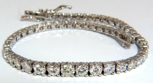 4.26ct Natural Diamonds Graduated Tennis Bracelet 18kt F/g Vs+