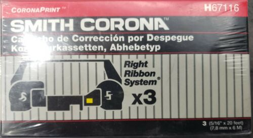 Smith Corona Lift-Off Correcting Cassettes H67116 3 Pack Right Ribbon System