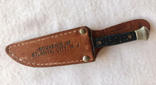 "Vintage 4"" Bowie Knife & Sheath 1940"