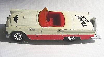 1982 Matchbox 1957 Thunderbird White with Logos c7+ T-Bird Very Good Vintage](T Bird Logo)