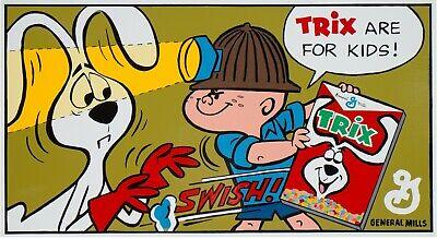 Vintage Trix Cereal Ad New Original Oil Painting by Bobby Jack Pack Jr.