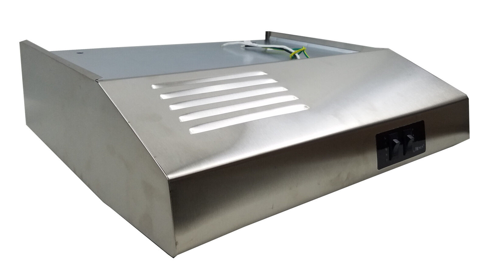 "24"" STAINLESS STEEL ** DUCTLESS 12v RV Range Hood Slope Nose Style Heng's"