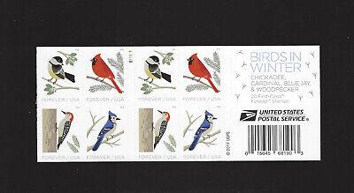5317 - 5320 Birds in Winter Forever Pane of 20