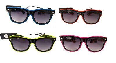 CEPEWA LED Sonnenbrille Style verschiedene Farben leuchtend Neon Disco 126330213