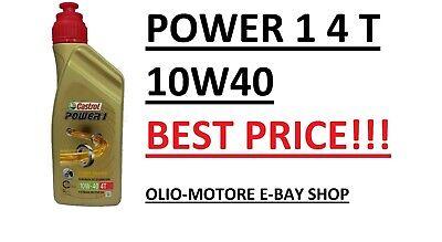 OLIO MOTORE 4T CASTROL POWER 1 10W40 MOTO 4 TEMPI 4 LITRI