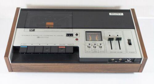 Sony TC-134SD Stereo Cassette Tape Corder Vintage Audiophile Ferrite Head WORKS