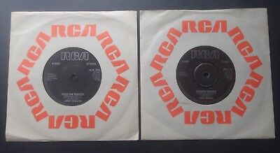 "John Denver - Shanghai Breezes & Hold on Tightly  7"" vinyl x 2"
