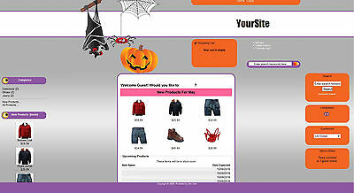 Halloween Store Ecommerce Shop Website Business For Sale