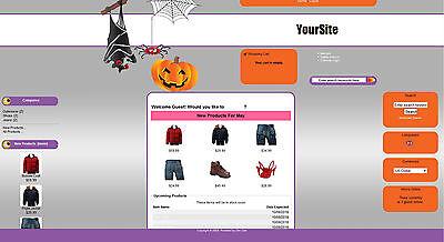 MERCE SHOP WEBSITE BUSINESS FOR SALE (Website Halloween)