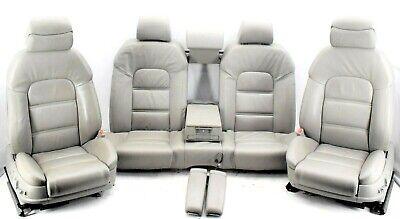 🌟Audi A8 D3 4E Beige Grey Leather Complete Interior Set Seats Memory Door Cards