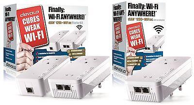 DEVOLO 9392Z POWERLINE DLAN 1200+ WiFi AC PASSTHROUGH TRIPLE ADAPTER NETWORK KIT