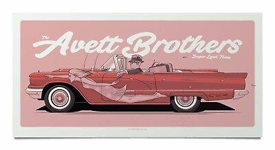 Avett Brothers Poster Smart Financial Centre Sugar Land  Tx 8 18 17
