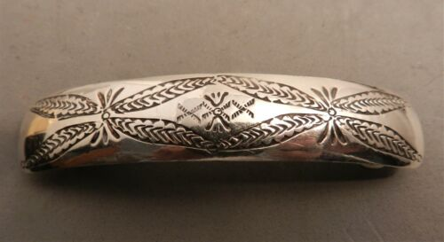 """4"""" VINTAGE NAVAJO STERLING SILVER HAIR BARRETTE CLIP, 3/4"""" WIDE X 4"""" LONG,APPROX"""