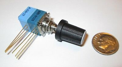 Clarostat 388 500k Ohm Linear Potentiometer Wswitch 12 Sq 1 Pcs Nos Wknob