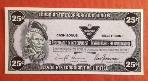 Canadian Tire Coupon CTC -S13 Da  UNC 25c  *00019405