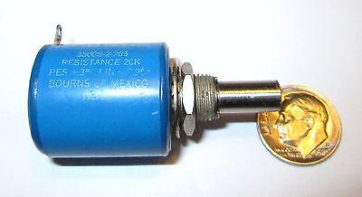 Bourns 3500s-1-203 20k Ohm 10-turn 2w Wire Wound Potentiometer Refurbished