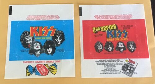 1978 Donruss KISS Series 1 & 2 Trading Cards Wax Pack Wrappers