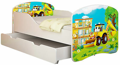Jugendbett Kinderbett mit einer Schublade und Matratze 140x70 160x80 180x80